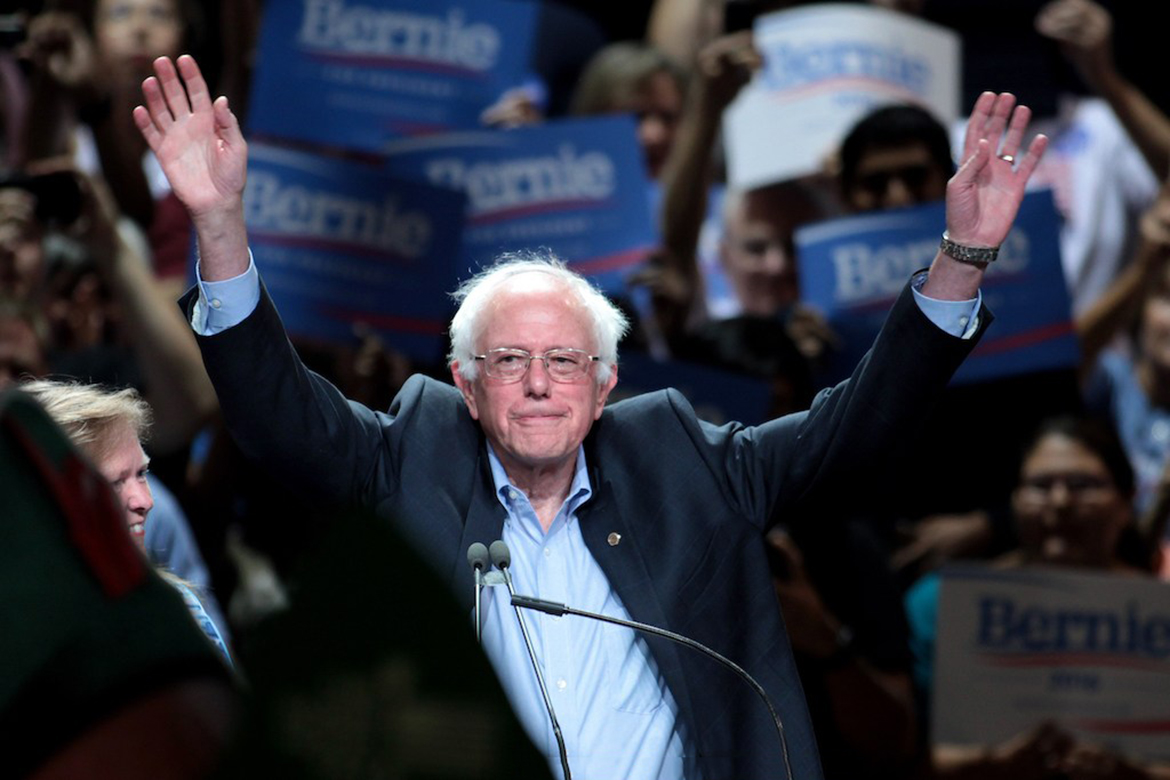 """Watch Bernie Sanders Enter His Campaign Rally to DMX's """"Where The Hood At"""""""