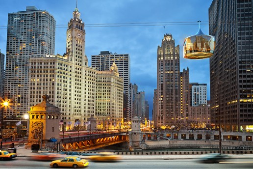 "You'll Soon Be Able to Glide Through the ""Windy City"" in This Futuristic Cable Car"