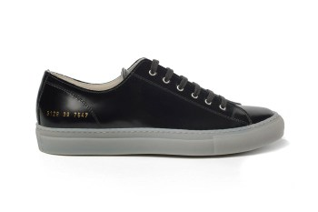 Common Projects Tournament Low Black Polished