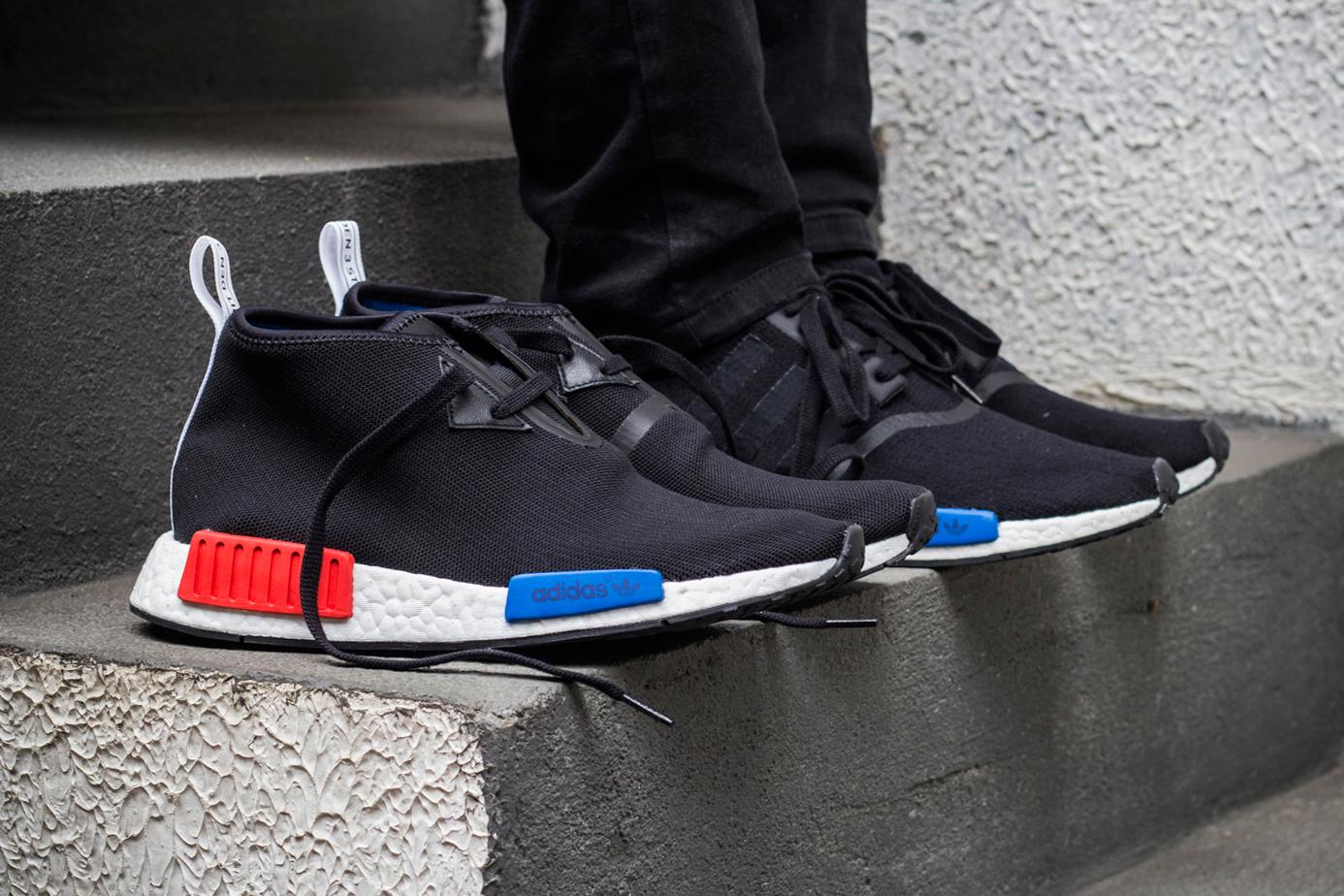 Men NMD R2 Sneakers Black Red Sz 9.5 Banananina