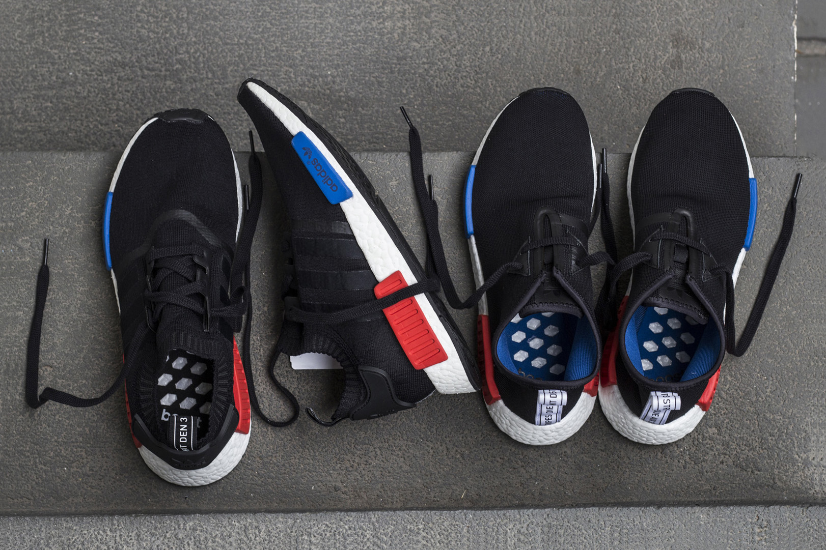 Adidas NMD R2 Core Black Red PrimeKnit Mens Trainers BY 2499