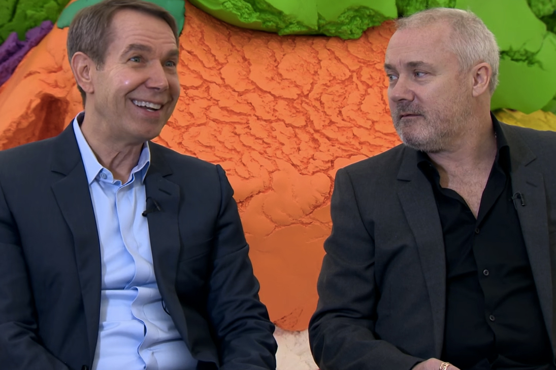 Together, Damien Hirst & Jeff Koons Talk to BBC Ahead of Joint Exhibition