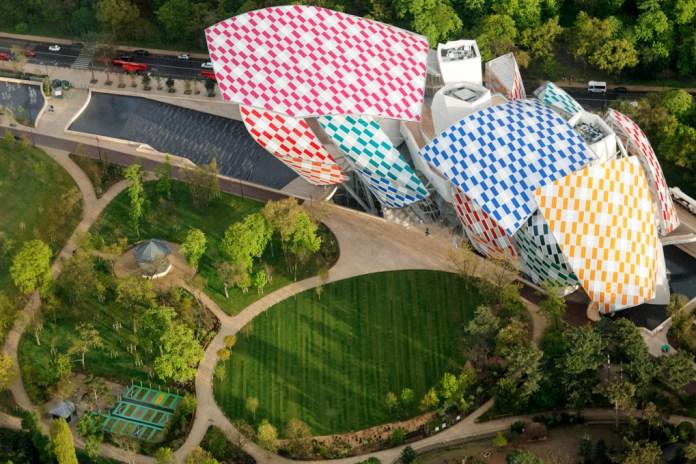 Daniel Buren Covers the Fondation Louis Vuitton in a Cascade of Colors