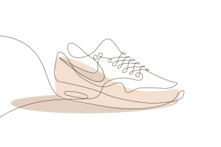 These One-Line Drawings Distill the Most Iconic Sneakers to Their Essence