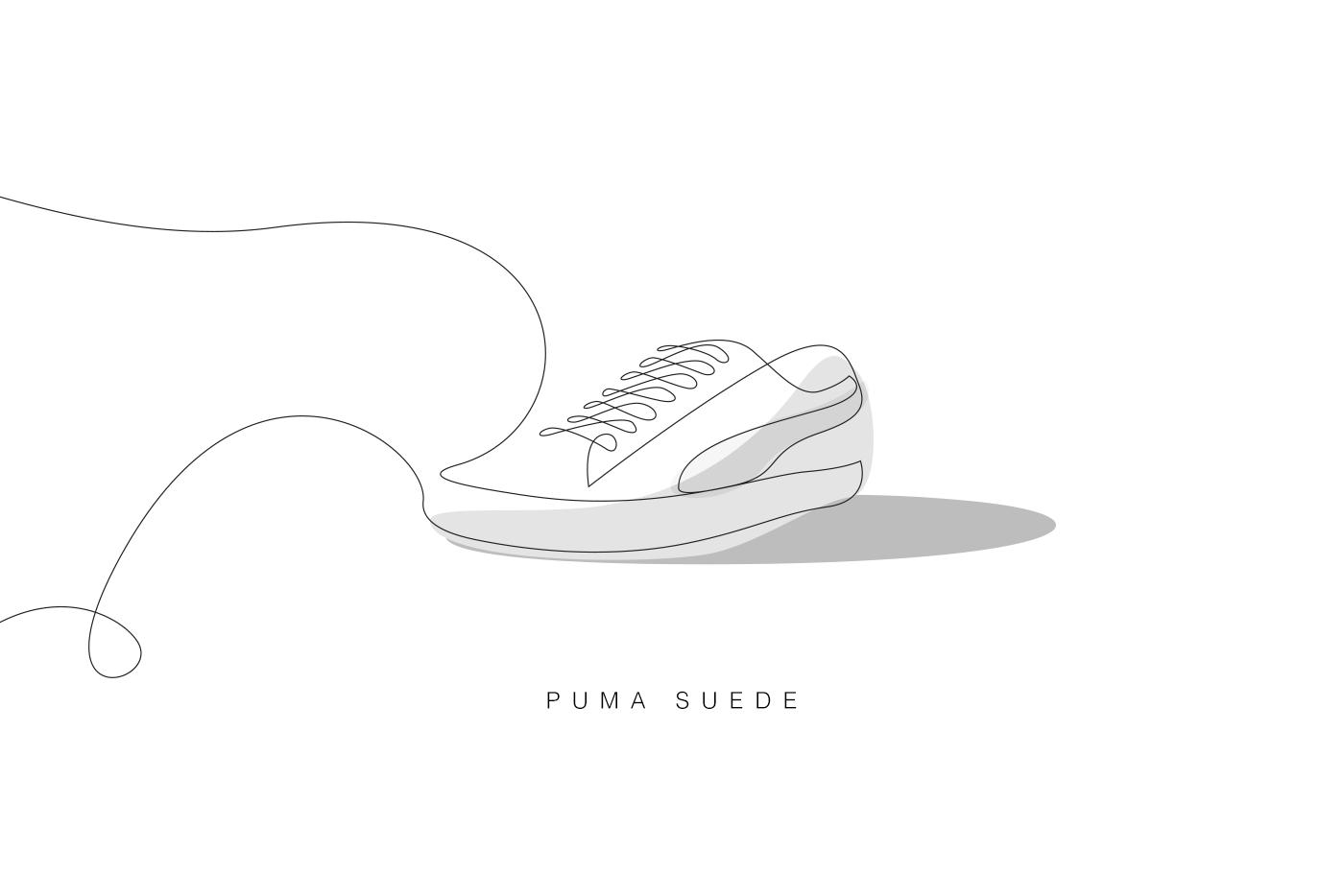 Differantly Studios One Line Sneaker Drawings