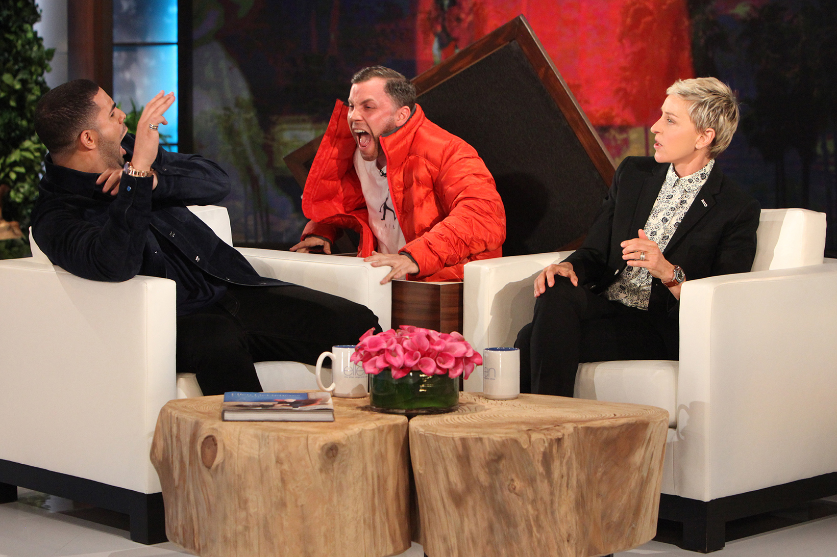 Ellen Scares the S**t out of Drake During Interview