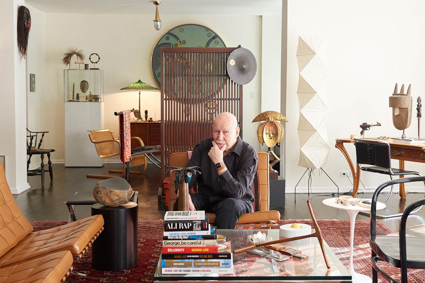 Step Into Graphic Communicator George Lois' Stylish Greenwich Village Apartment