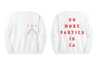 "Kanye West ""No More Parties In LA"" White Crewneck Sweatshirt"