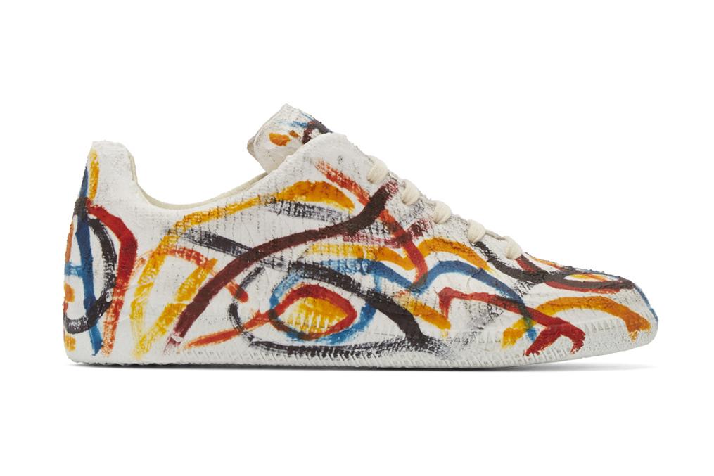 Maison Margiela Covers the Replica Sneaker in Multicolor Chalk