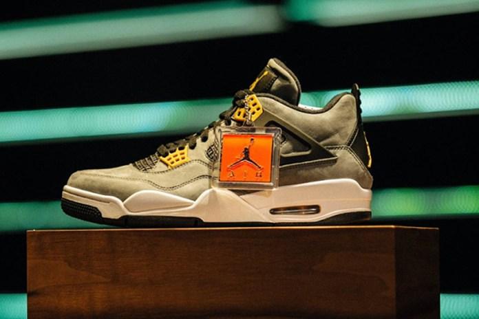 "Marcus Jordan Reveals 1-of-1 Air Jordan 4 ""Trophy Room"""