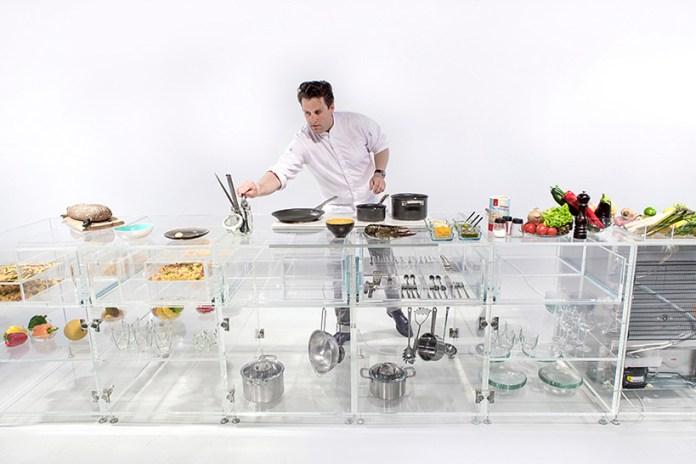 "MVRDV's Transparent ""Infinity Kitchen"" Highlights Cooking's Expressional Artform"
