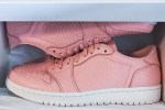 "Picture of A Sneak Peek at the Air Jordan 1 Low ""Swooshless"" in Pink"