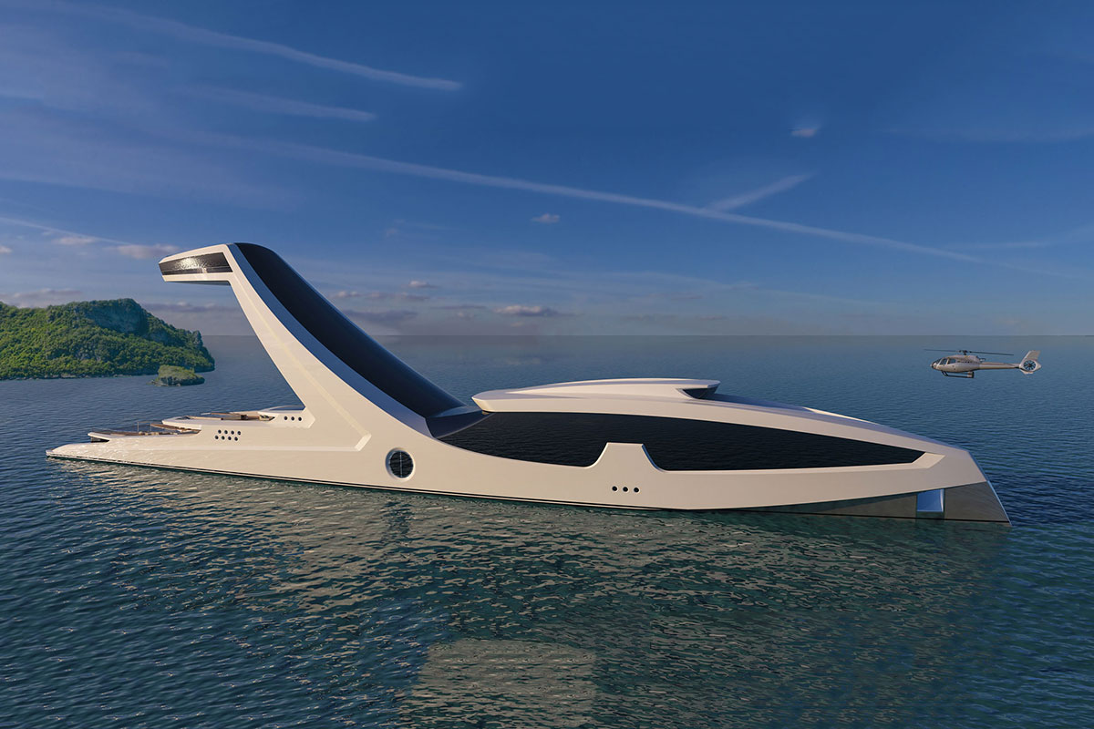 This Mega Yacht Concept Includes a Stunning Infinity Pool in the Sky