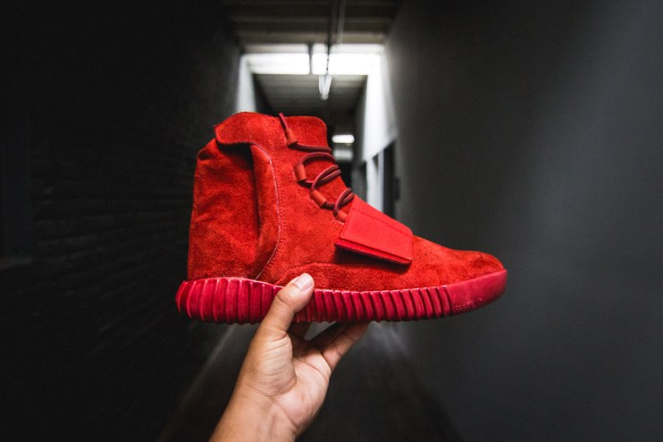 Custom Red Yeezy Boost 750s by The Shoe Surgeon