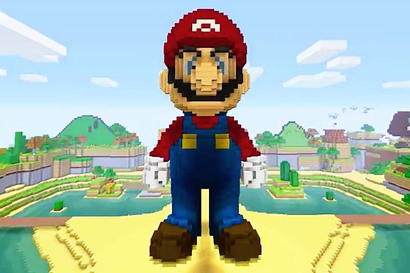 Super Mario Enters the World of Minecraft on Wii U