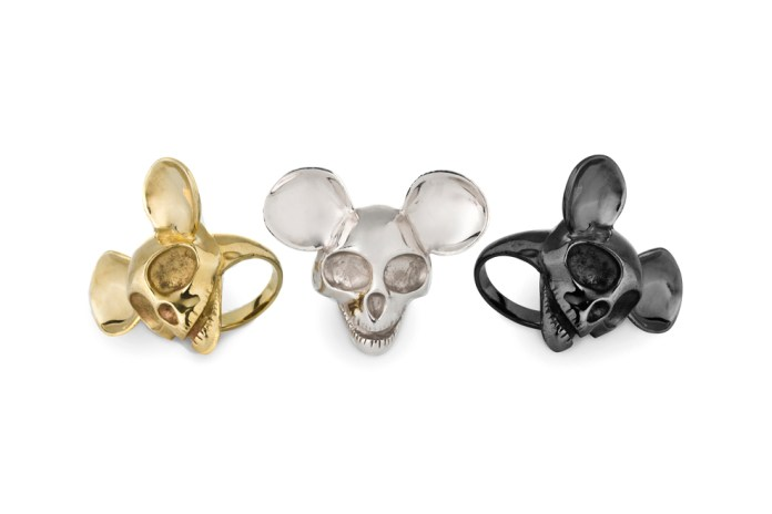 Tom Wood x John Andre Hanøy Mickey Mouse Skull Ring Collection