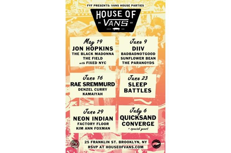 Vans Announces the Return of the Vans House Parties