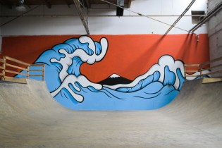 Aaron Kai Blesses The Hundreds Warehouse With Hokusai Wave-Inspired Mural
