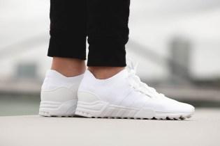 "adidas Dropped a ""Triple White"" EQT Support Primeknit"