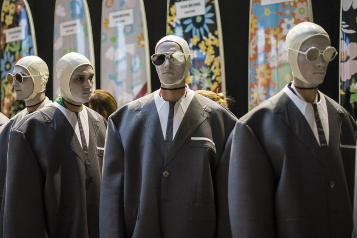 We Go Backstage as the Thom Browne 2017 Spring/Summer Collection Hits the Runway