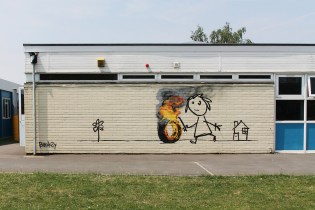 Banksy Expresses His Gratitude to a School in Bristol
