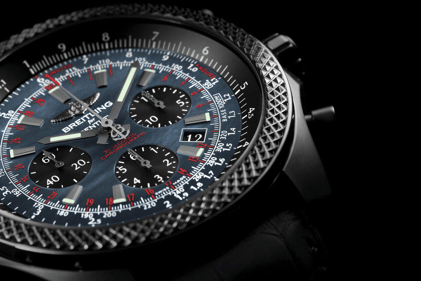 The Breitling for Bentley B06 Midnight Carbon Watch Surpasses the Conventional Tachymeter