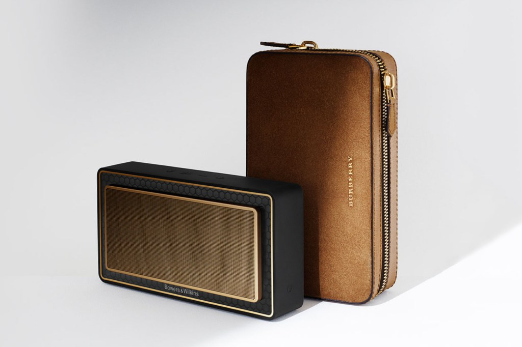 Burberry Teams up With Bowers & Wilkins for a Gilded Bluetooth Speaker