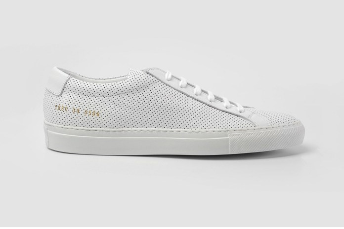 Gear up for Summer With Common Projects' Perforated White Achilles Low