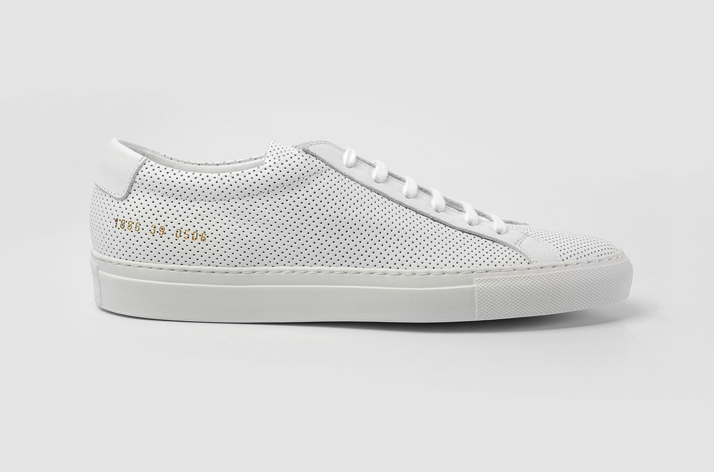 common projects achilles low perforated white sneaker hypebeast. Black Bedroom Furniture Sets. Home Design Ideas