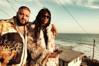 DJ Khaled & Naomi Campbell Share a Kiss in Apple Music Ad