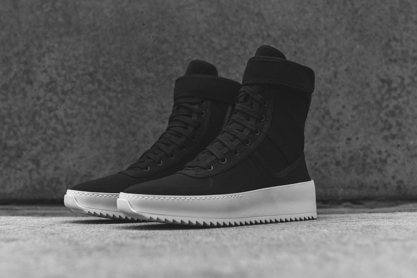 Fear Of God Military Black Nylon Sneaker Hypebeast