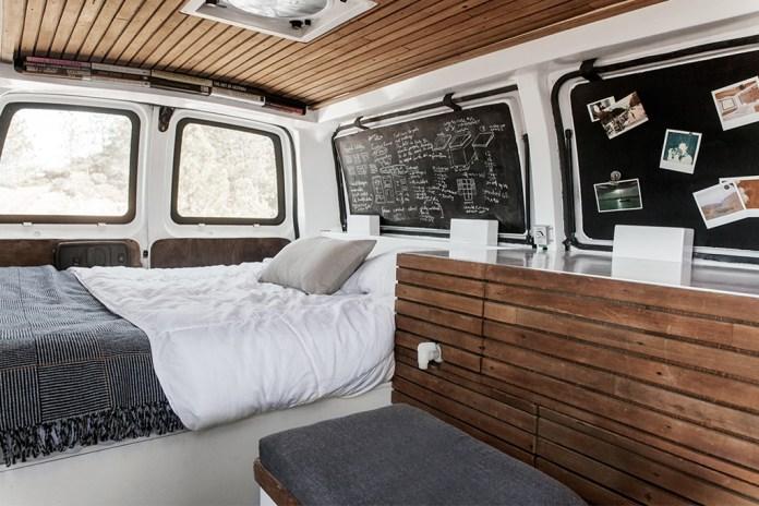 Filmmaker Converts Cargo Van Into a Living Studio Space