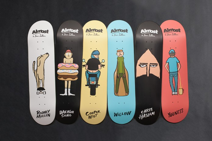 Jean Jullien Designs Whimsical Skate Decks for Almost Skateboards