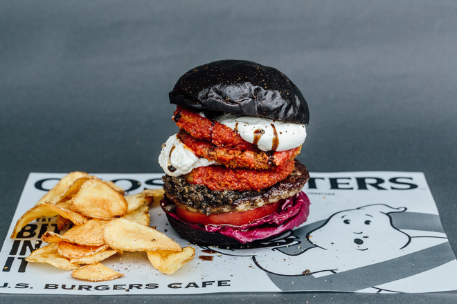 This Japanese Burger Joint Created an Epic Ghostbusters-Themed Menu