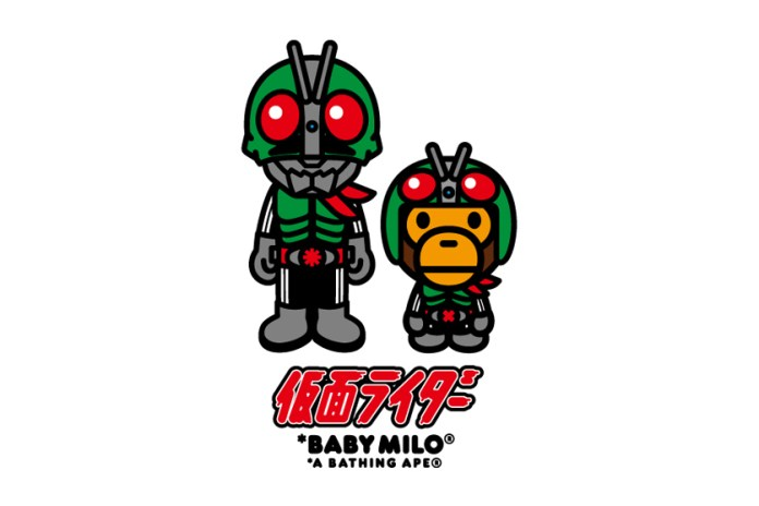 Baby Milo Partners up With Kamen Rider in Latest BAPE Collaboration
