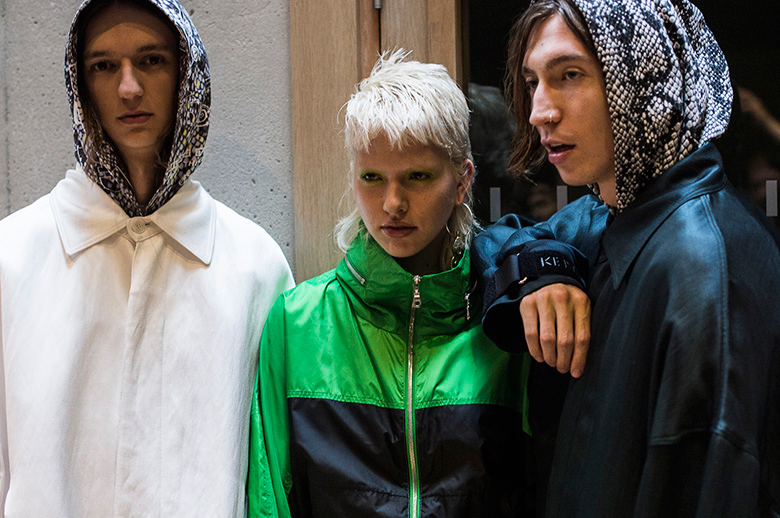 Backstage at Kenzo's 2017 Spring/Summer Collection