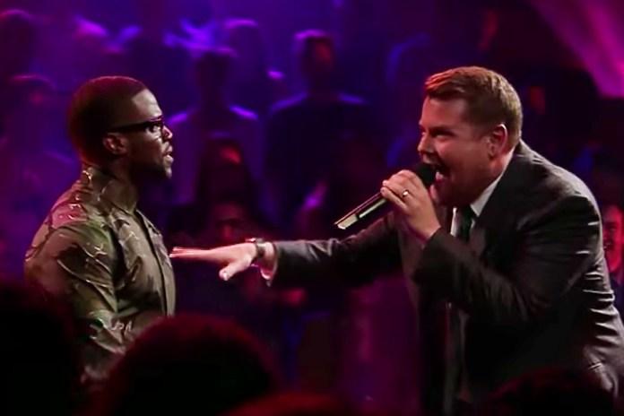 Kevin Hart & James Corden Go Blow for Blow in Epic Rap Battle