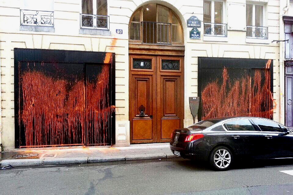 Picture of Kidult Vandalizes Kanye West's 'The Life of Pablo' Pop-Up in Paris
