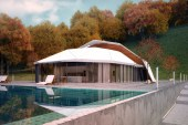 """Lenz Architects' """"Shell House"""" Is One Part Villa, One Part Fortress"""