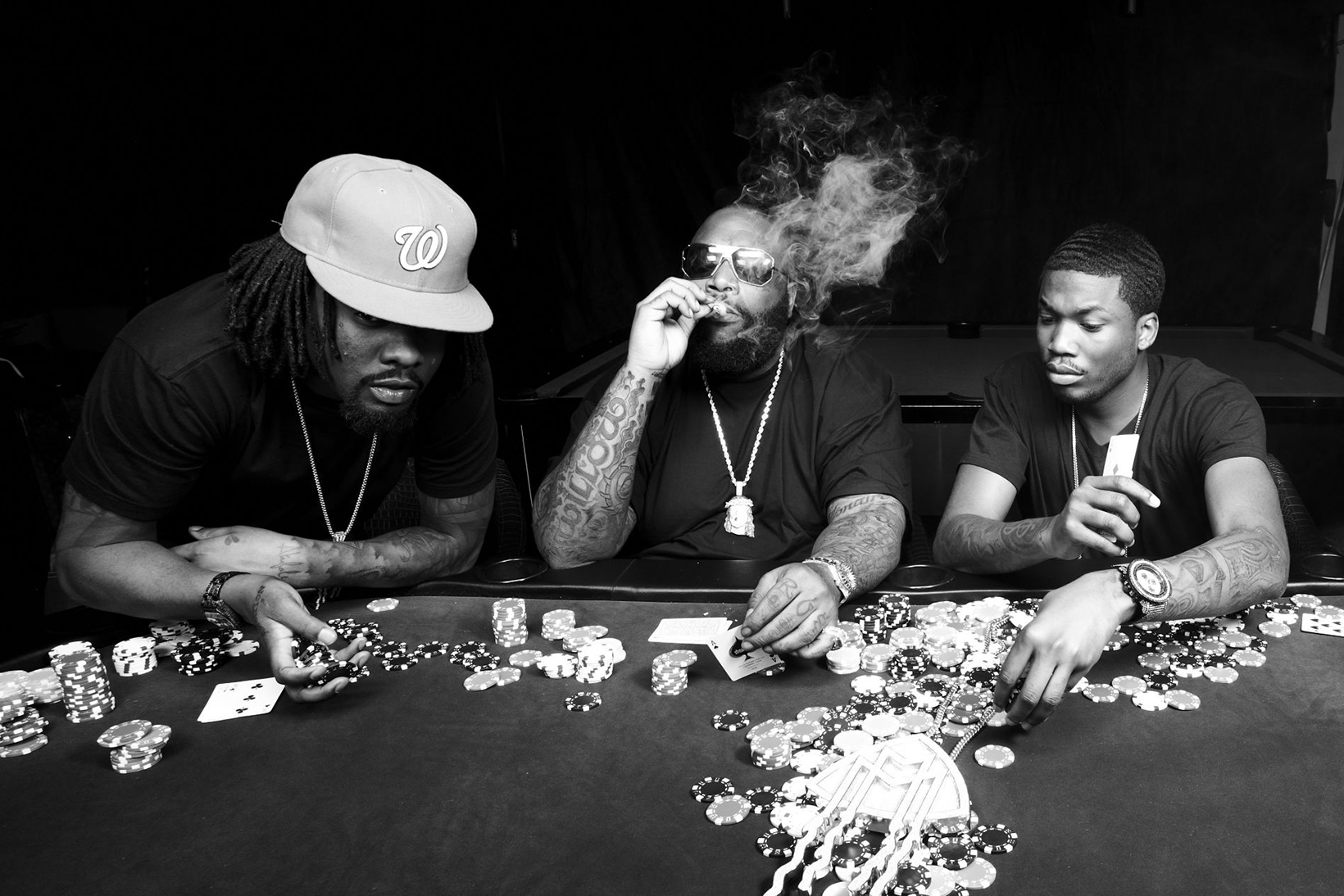 """Rick Ross, Meek Mill, & Wale Join Forces for """"Make It Work"""""""