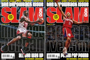 Michael Jordan & Allen Iverson Cover the 200th Issue of 'SLAM'