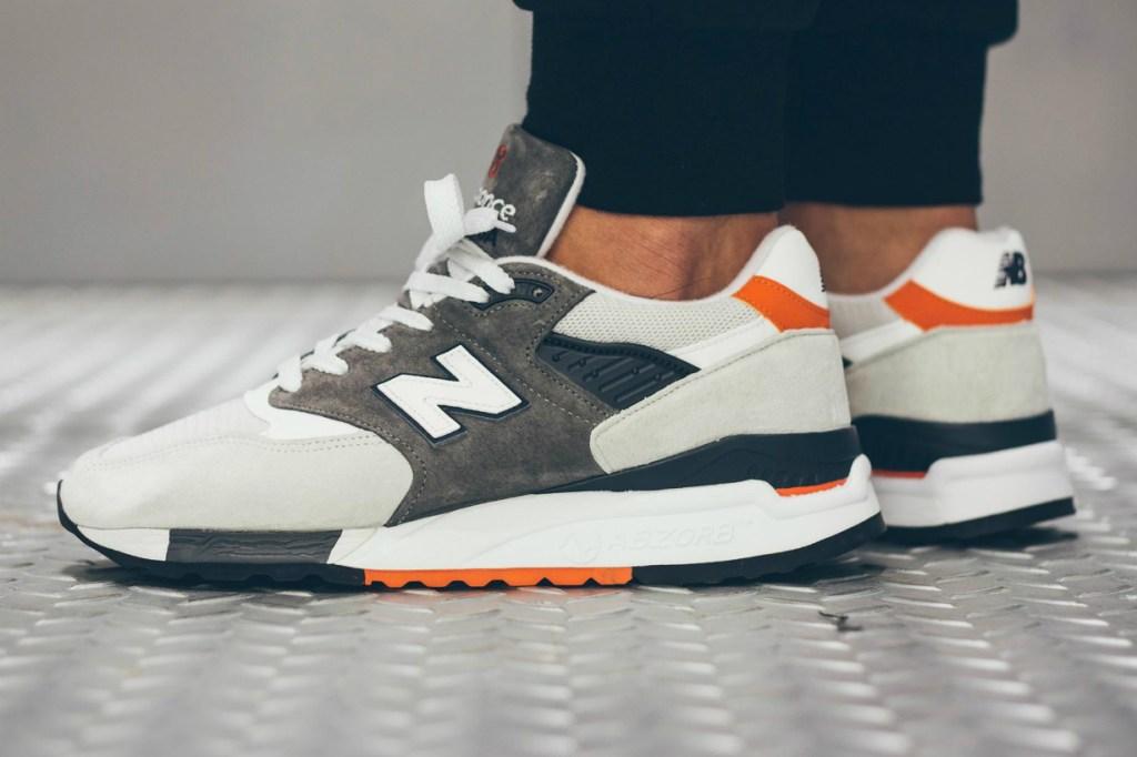 Orange And Gray New Balance Shoes