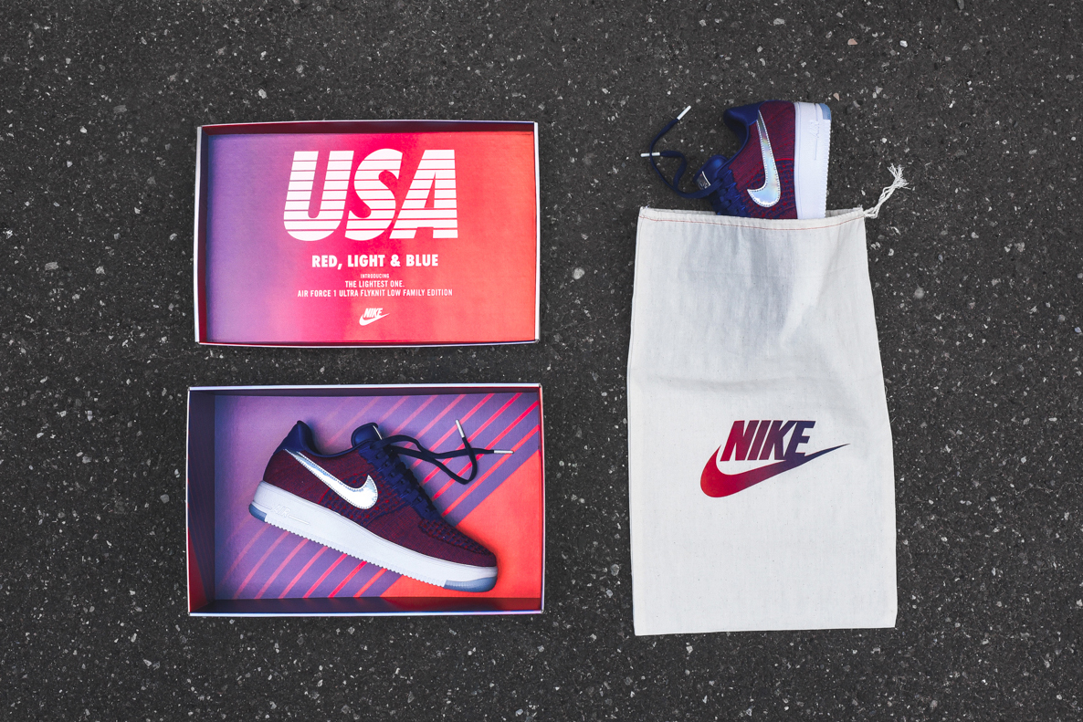 """Nike Drops an Exclusive """"USA Family"""" Air Force 1 Ultra Flyknit at KITH"""
