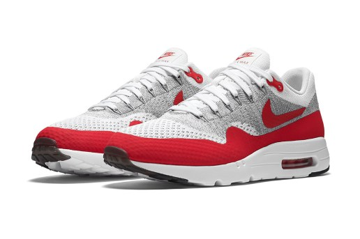 "The Nike Air Max 1 Ultra Flyknit ""Sport Red"" Recalls an OG Look"