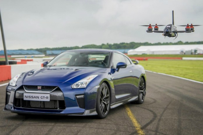 Watch Nissan's Brand New GT-R Drone Take on a 2017 GT-R Racer