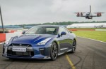 Picture of Watch Nissan's Brand New GT-R Drone Take on a 2017 GT-R Racer