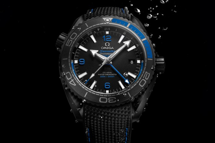 """OMEGA Gives the Seamaster Planet Ocean a """"Deep Black"""" Makeover"""