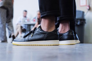 """A First Look at the PSNY x Air Jordan 1 Low """"Swooshless"""" Collaboration"""