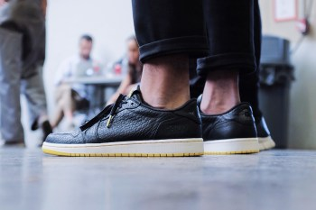 "A First Look at the PSNY x Air Jordan 1 Low ""Swooshless"" Collaboration"
