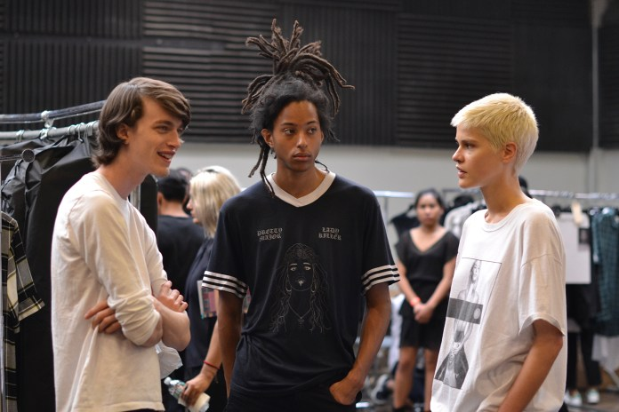 Backstage at Public School's 2017 Spring/Summer Collection